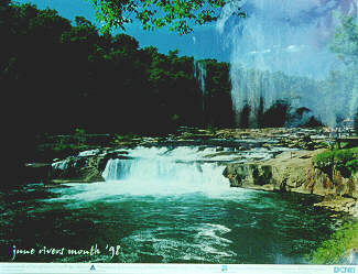 Beautiful Ohiopyle Falls on the Youghiogheny River in Ohiopyle PA