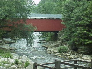 Covered bridge over Slippery Rock Creek just below the Mill in McConnell's Mill State Park