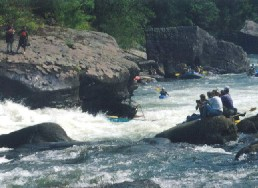 Pillow Rock Rapid on the Upper Gauley